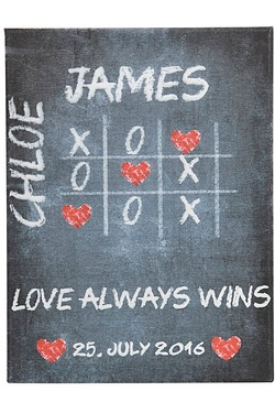 Personalised Love Always Wins Canvas