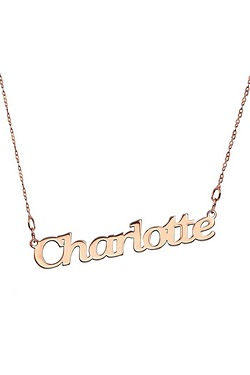 Personalised 9ct Rose Gold Nameplate