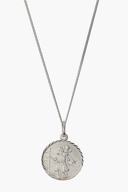 Personalised Silver St Christophers Pendant
