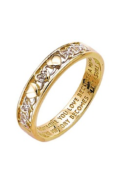 Personalised 9ct Love Memory Ring