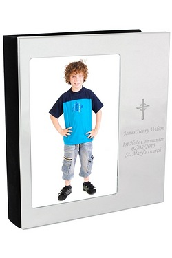 Personalised Cross Photo Frame Photo Album