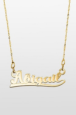 Personalised 9ct Yellow Gold Name Plate Necklace