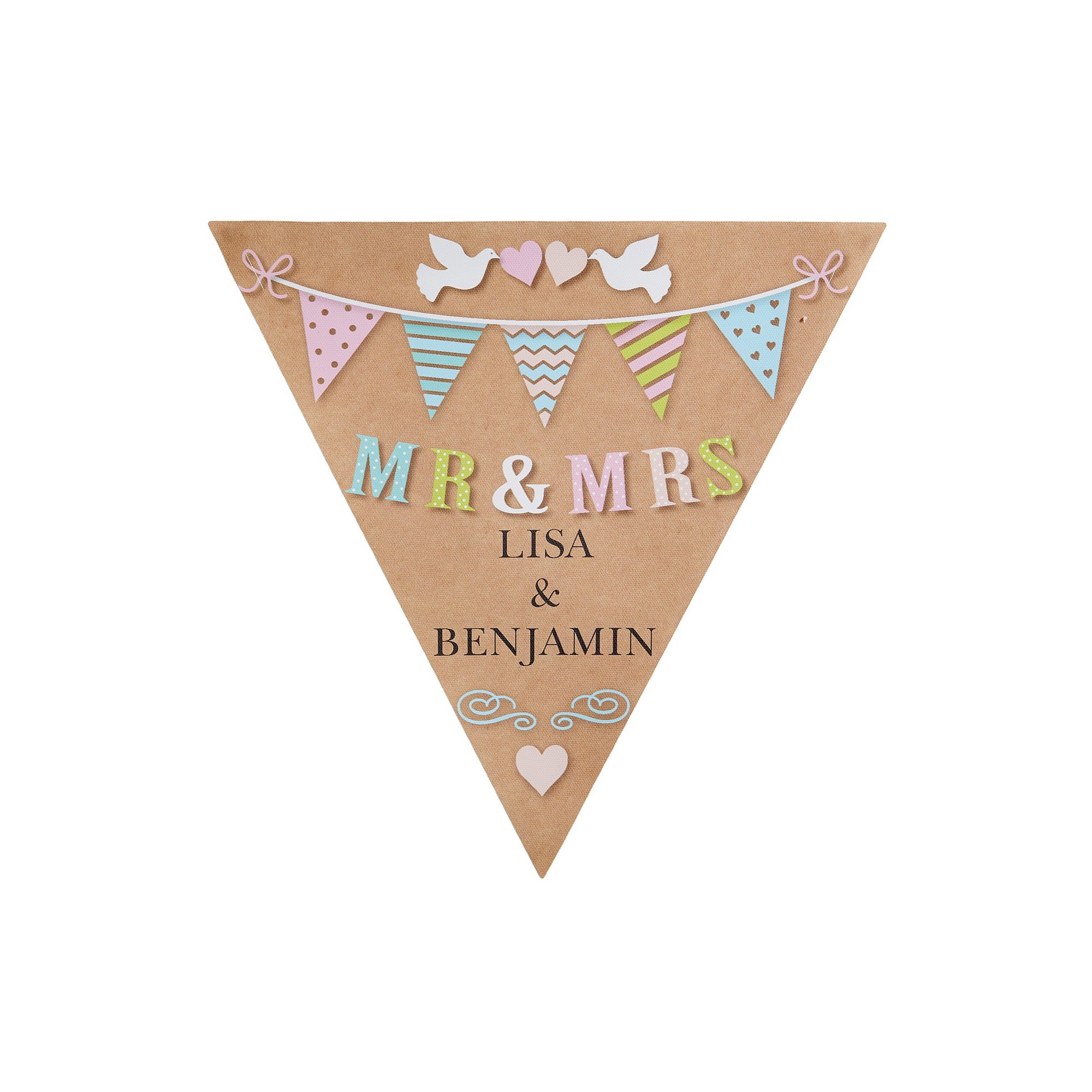 Image of Personalised Mr and Mrs Doves Bunting