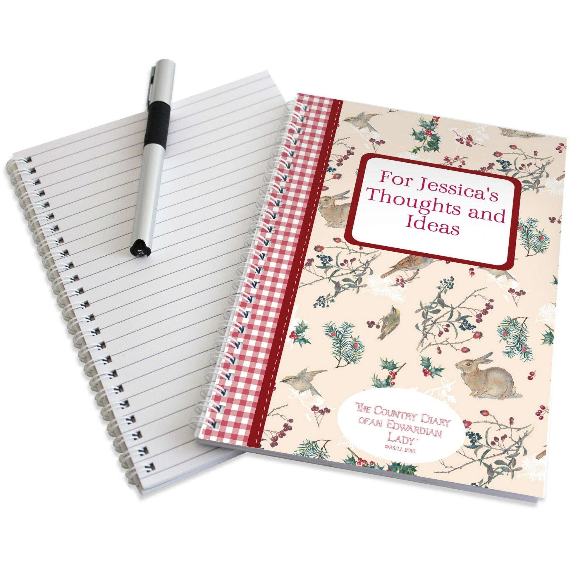 Image of Personalised Edwardian Lady Christmas Notebook