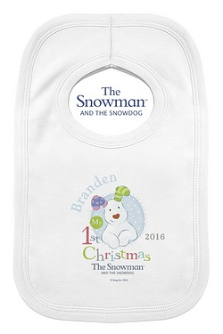 Snowman And The Snowdog My 1st Christmas Bib