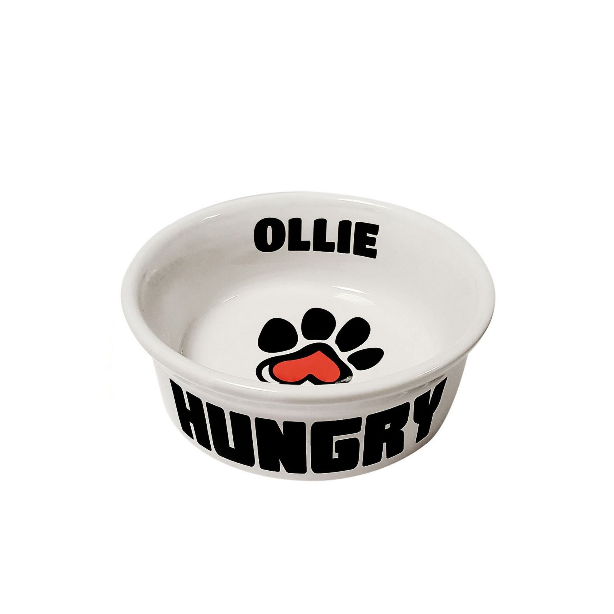 Image of Personalised Small Paw Print Pet Bowl