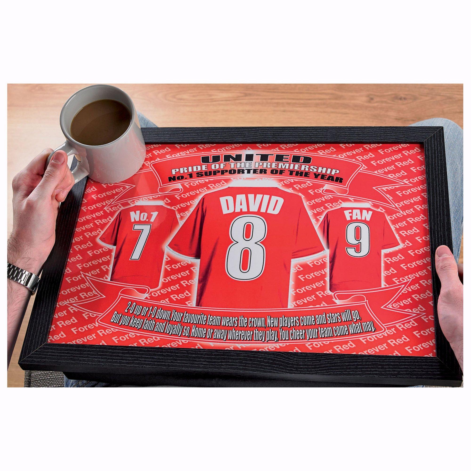 Image of Personalised Football Laptray