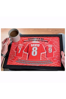 Personalised Football Laptray