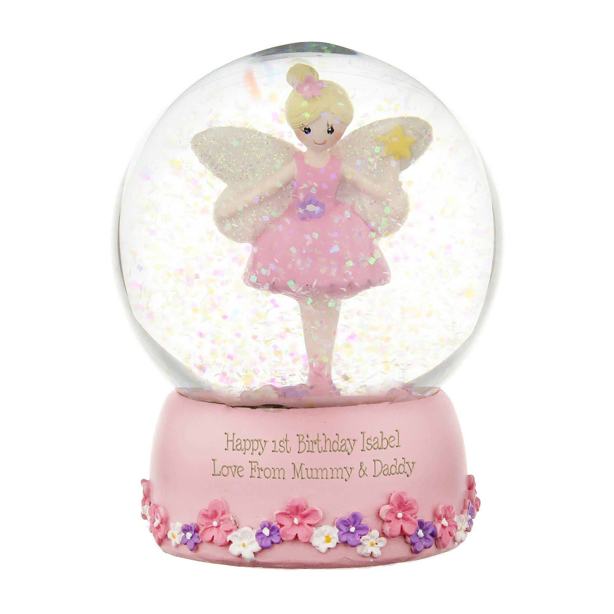Image of Personalised Fairy Snow Globe