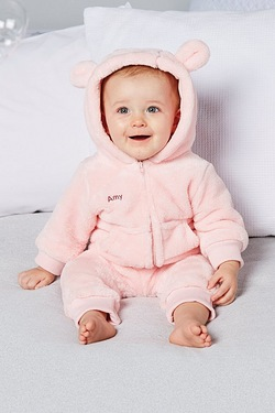 Babys Personalised Embroidered Fleece Romper