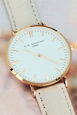 Elie Beaumont Modern-Vintage Personalised Leather Watch