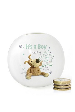 Personalised Boofle Its a Boy Money Box