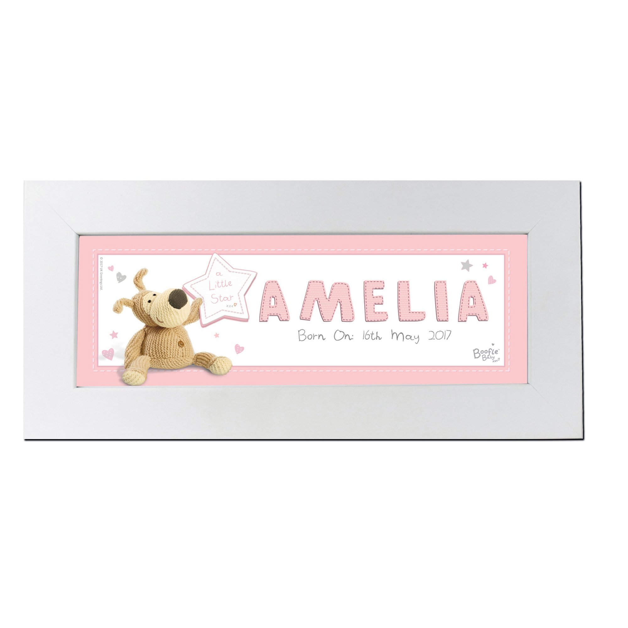 Image of Personalised Boofle Its a Girl Name Frame