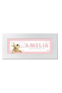 Personalised Boofle Its a Girl Name Frame