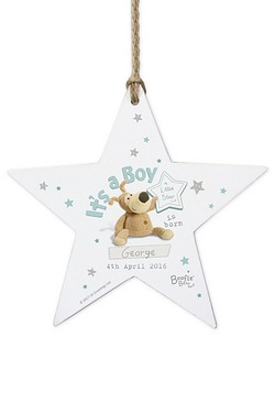 Personalised Boofle Its a Boy Star Decoration