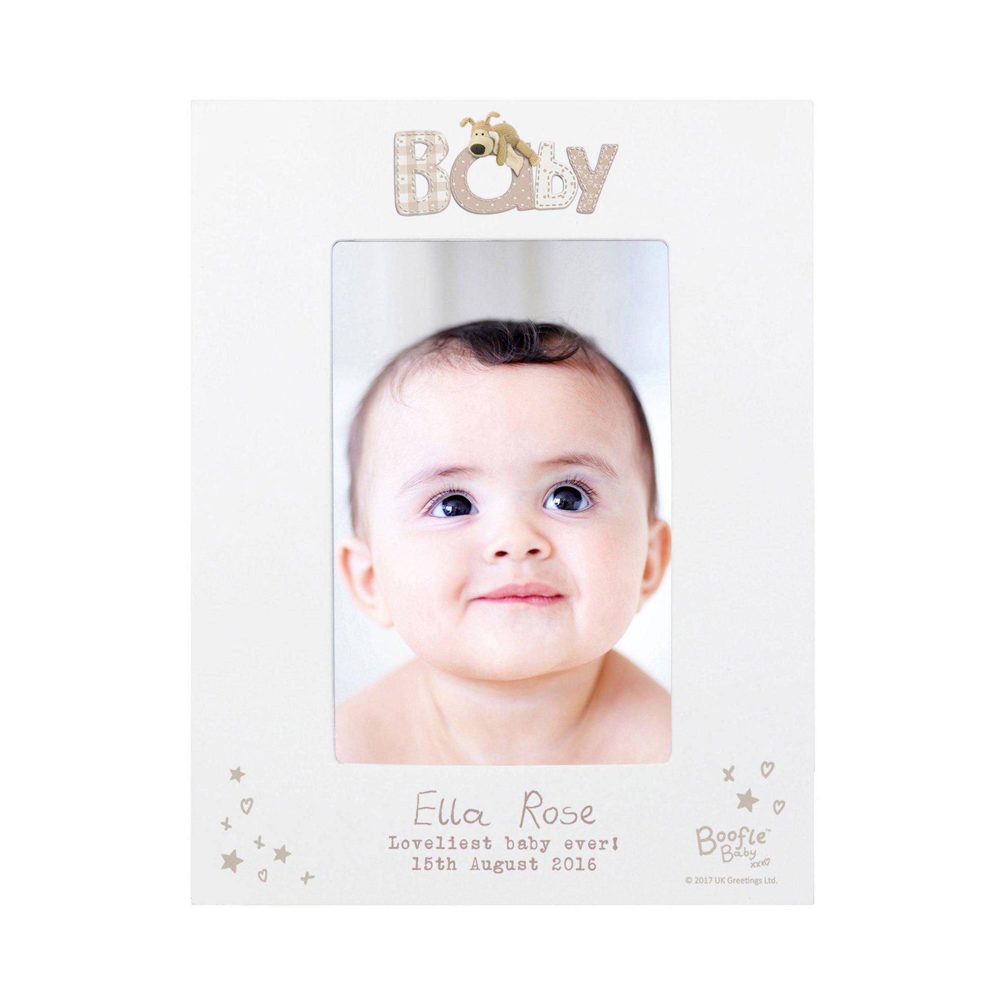 Image of Personalised Boofle Baby 6x4 Photo Frame