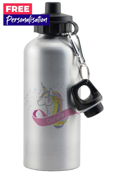 Image for Personalised Unicorn Heart Drinks Bottle from studio
