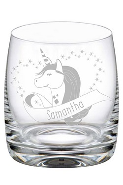 Personalised Unicorn Heart Tumbler