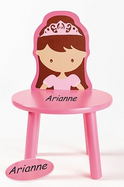 Personalised Wood Chair - Princess