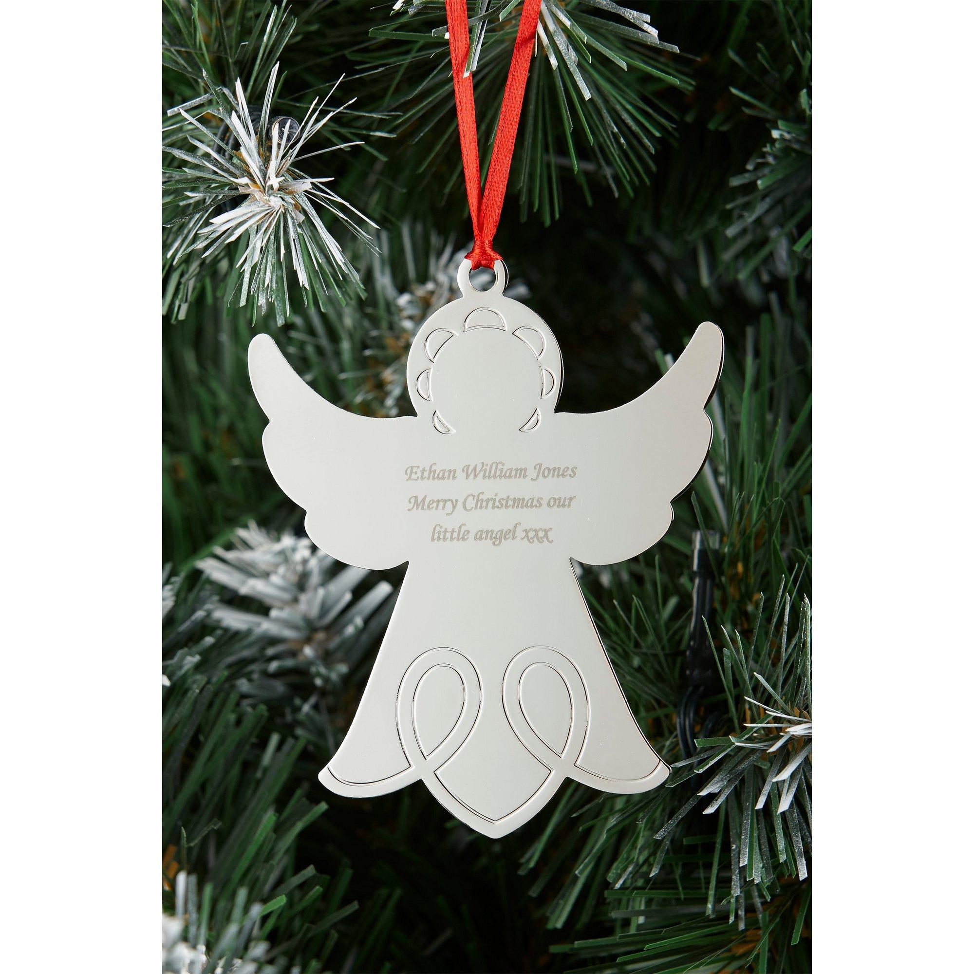 Image of Personalised Angel Decoration