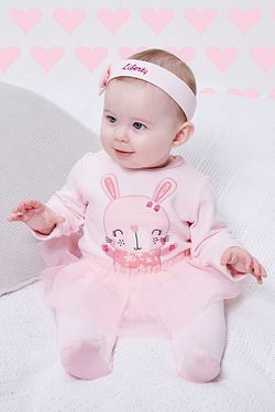 Baby Rabbit Tutu Sleepsuit With Personalised Headband