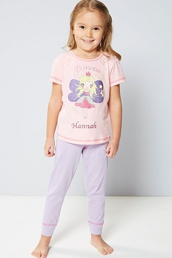 Girls Personalised Pyjamas - Princess