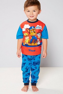 Boys Personalised Paw Patrol Born Brave Pyjamas