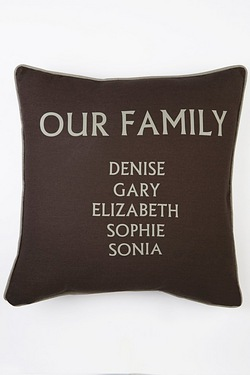 Personalised Our Family Cushion Cover