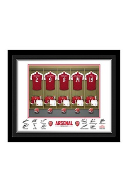Personalised Dressing Room Print - Arsenal