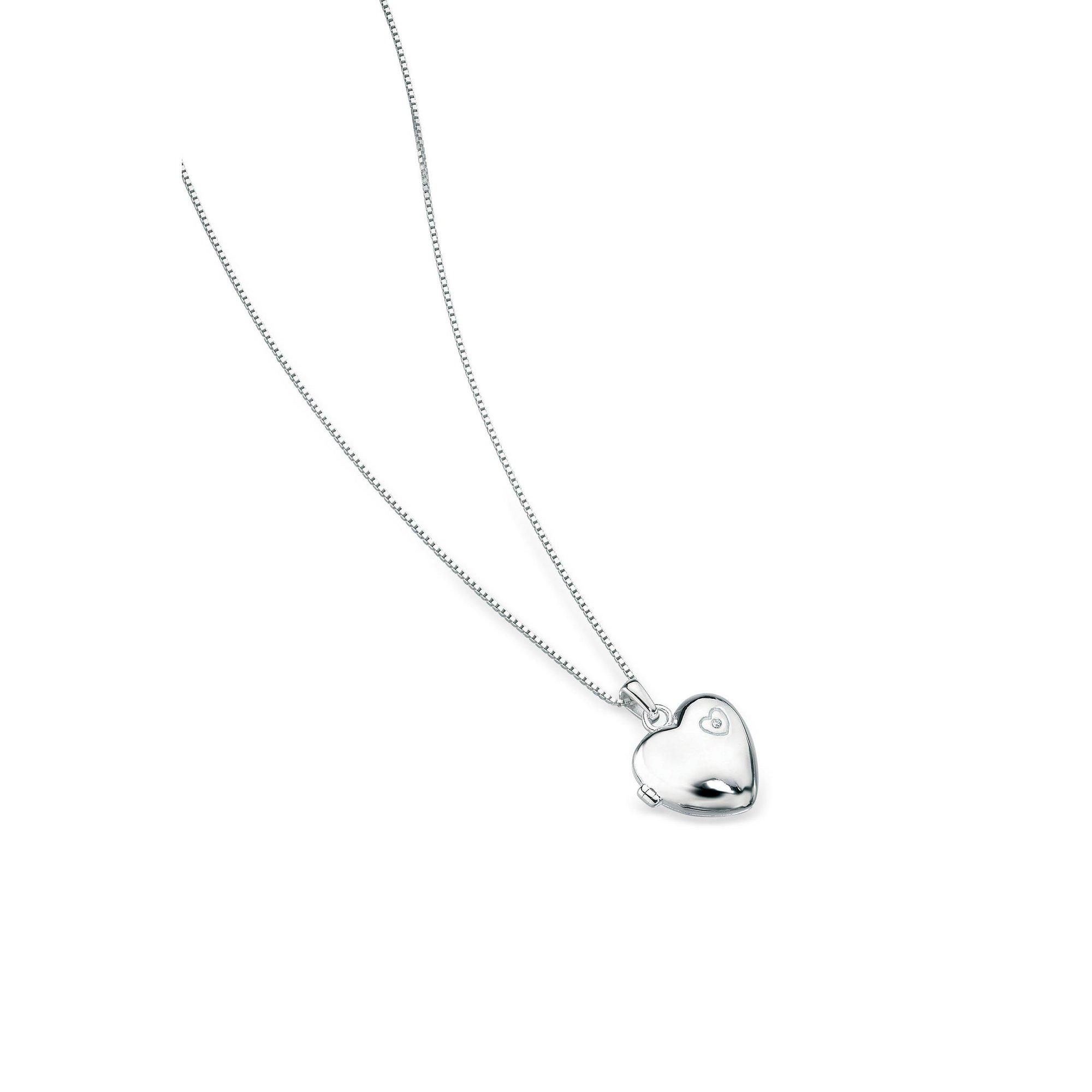 Image of D For Diamond Large Heart Locket