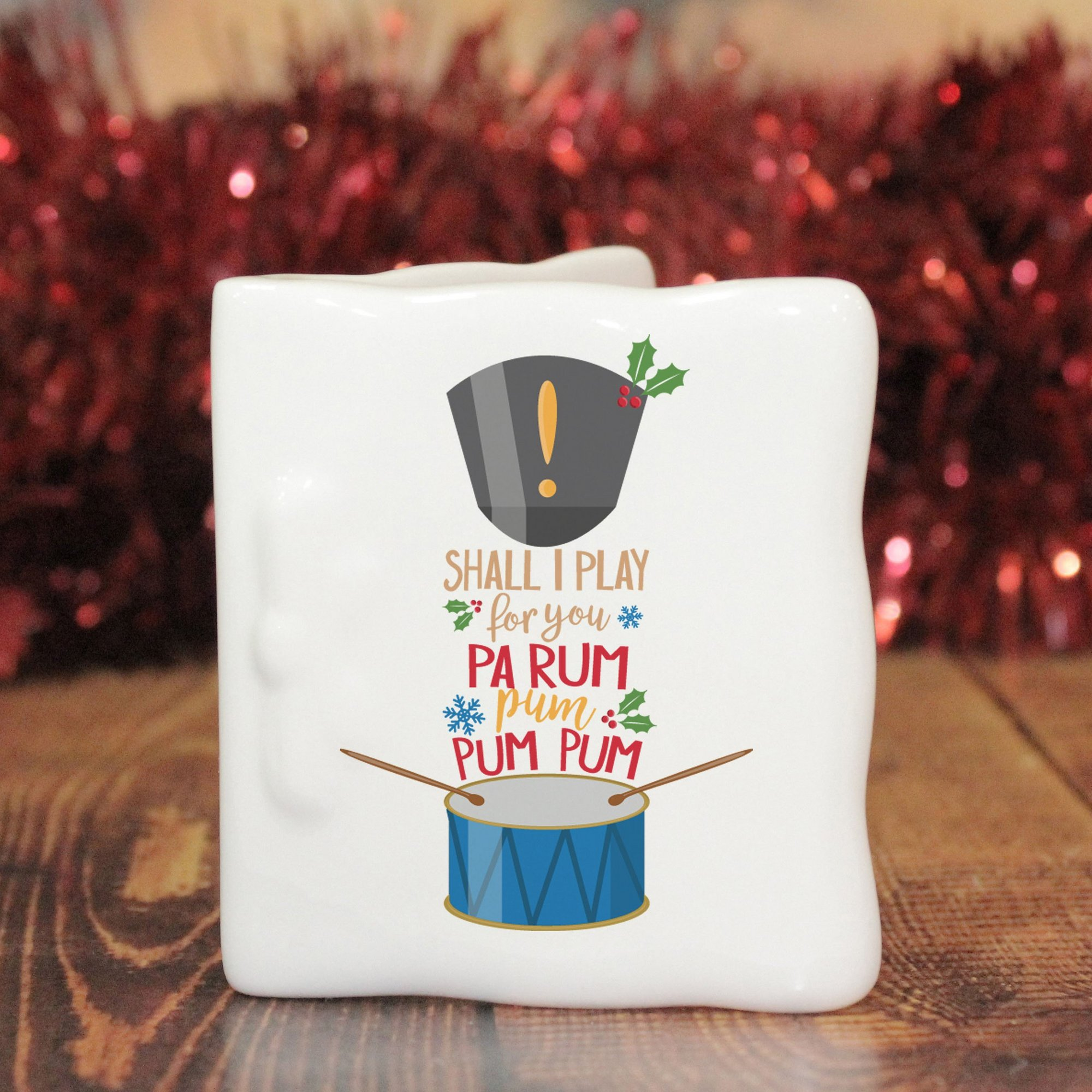 Image of Personalised Little Drummer Boy Message Card