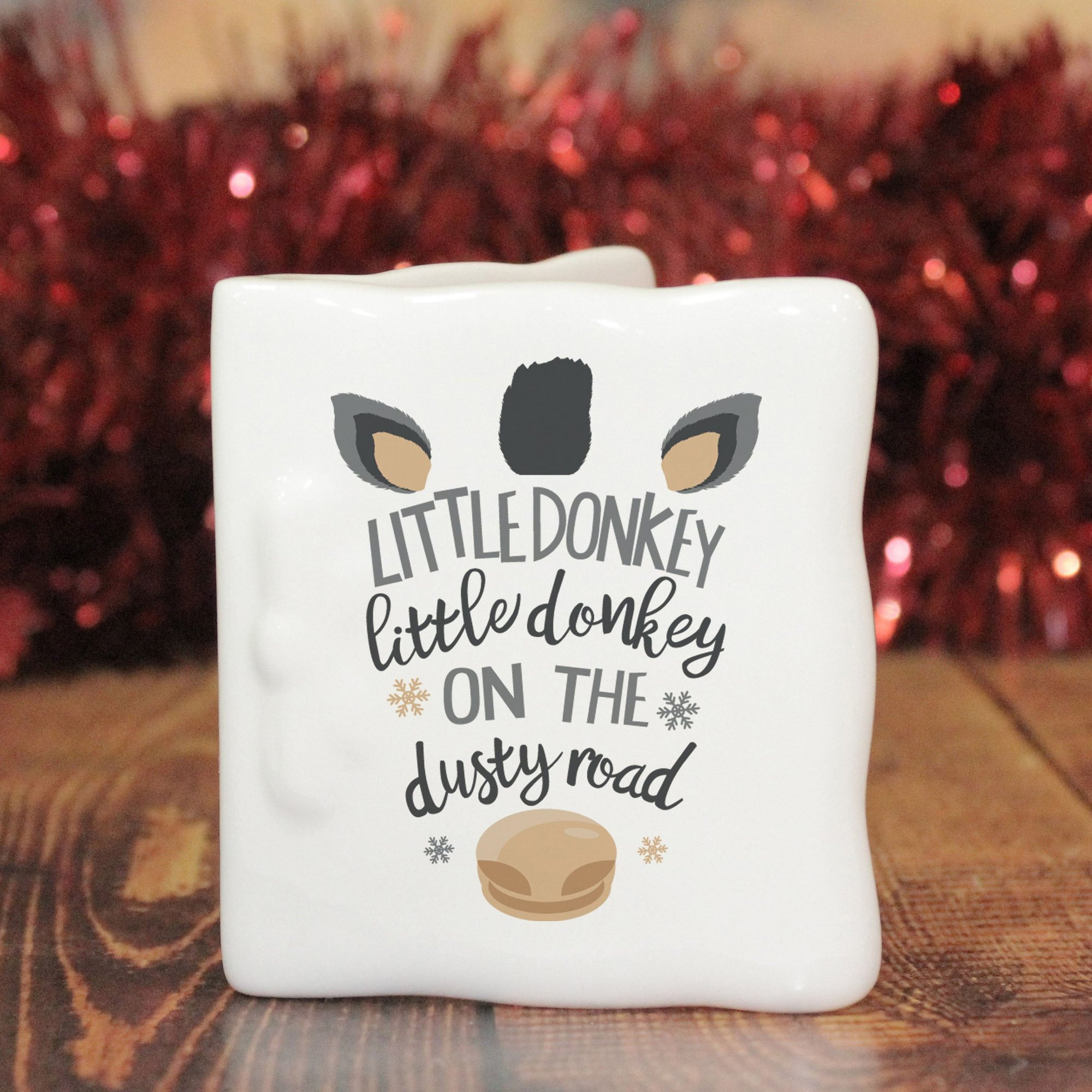 Image of Personalised Little Donkey Message Card