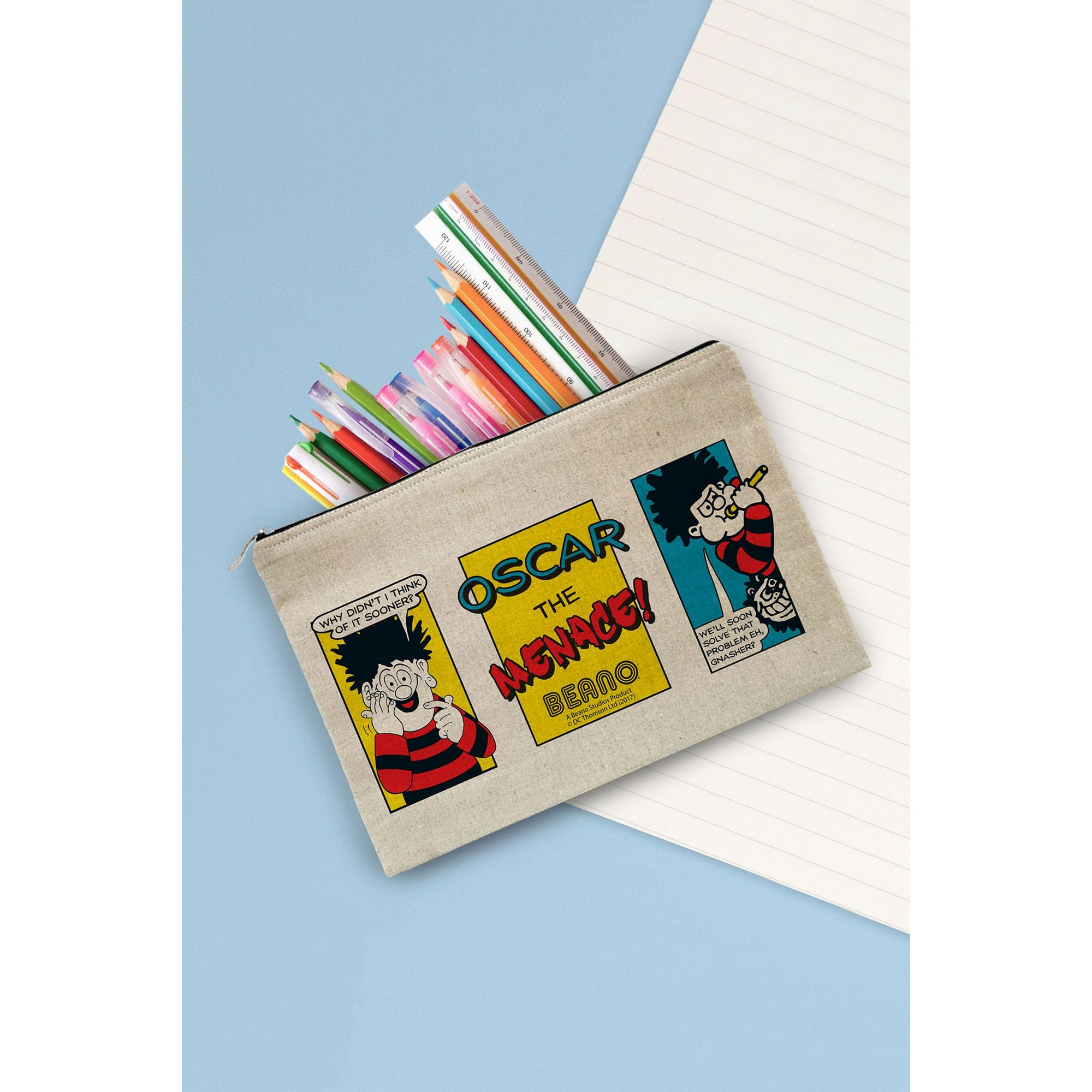Image of Personalised Beano Problem Solved Canvas Pencil Case