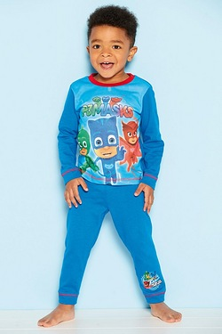 Young Boys Personalised On Our Way PJ Masks Pyjamas