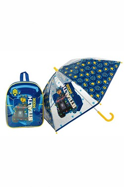 Personalised Blue Paw Patrol Backpack and Umbrella Set