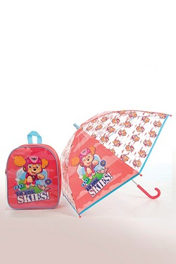 Personalised Pink Paw Patrol Backpack and Umbrella Set