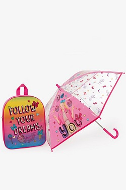 Personalised Jo Jo Bows Backpack and Umbrella Set