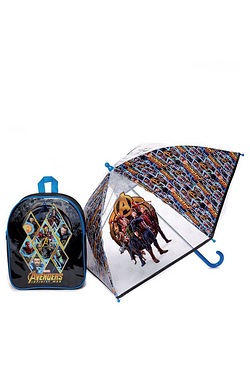 Personalised Avengers Backpack and Umbrella Set