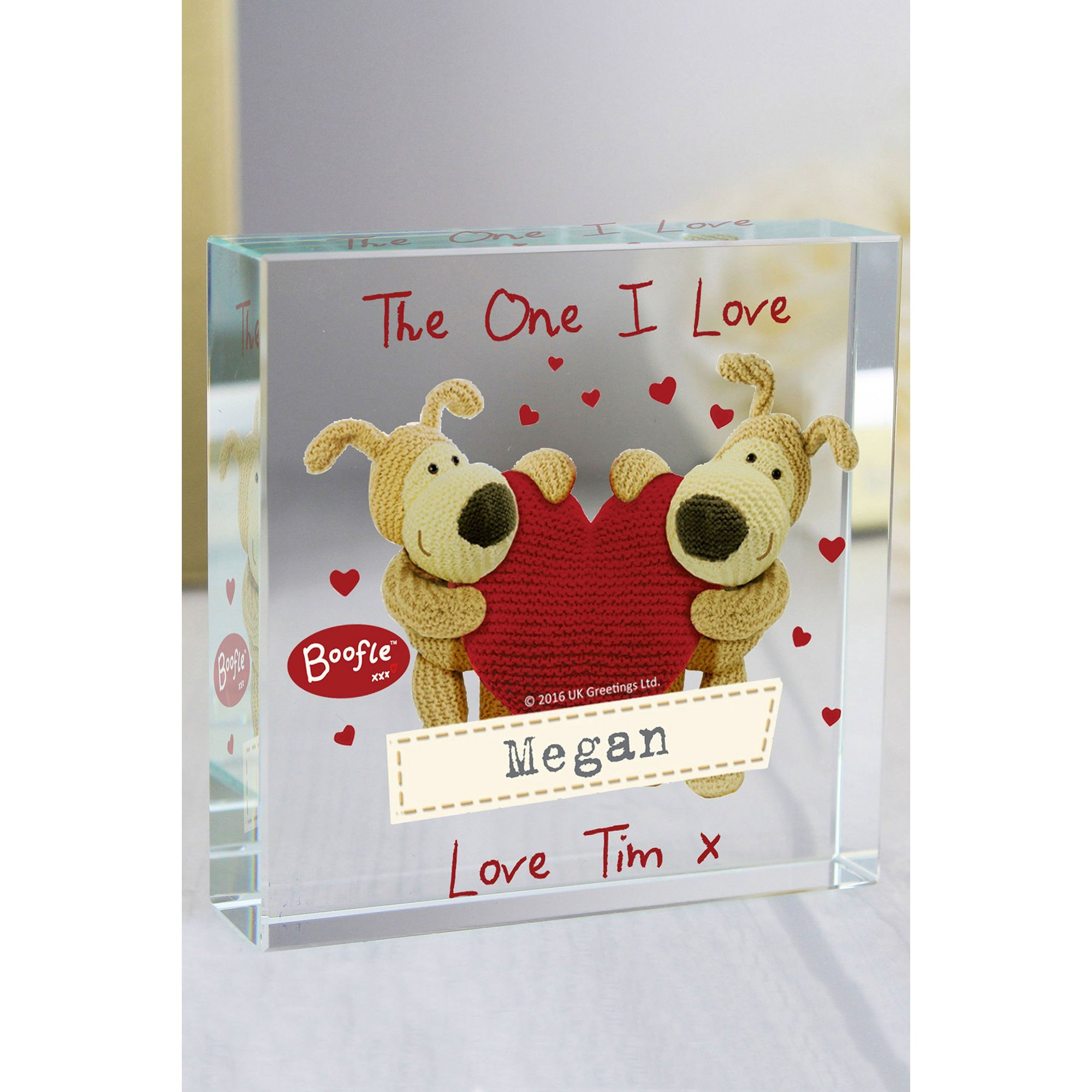 Image of Personalised Boofle Love Crystal Token