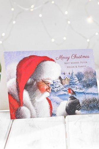 santa personalised cards studio