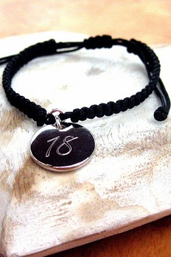 Script Braided Personalised Bracelet