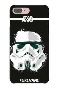 Personalised Storm Trooper Paint iPhone 7 Case