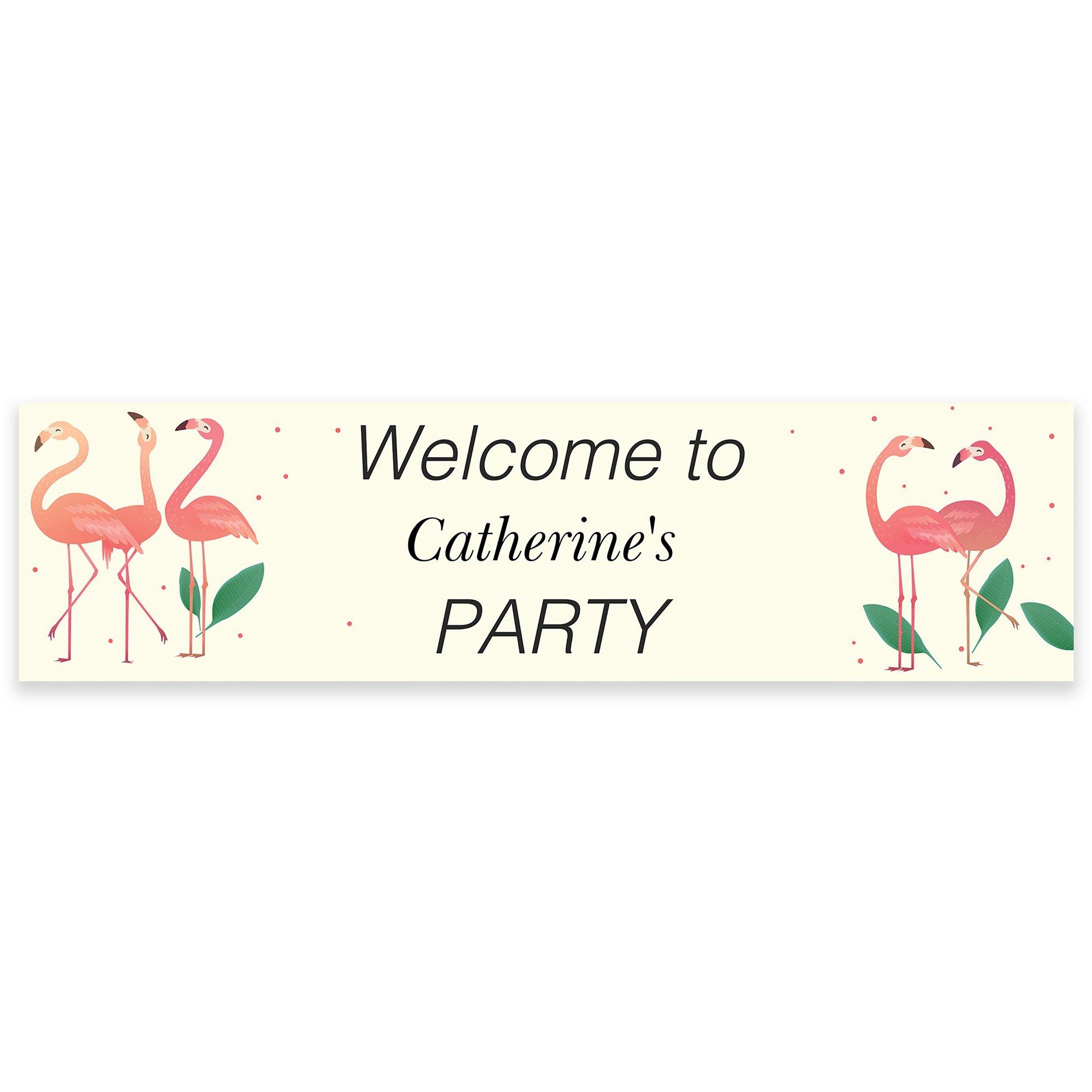 Image of Personalised Flamingo Banner