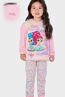 e80836be3f3 Girls Personalised Shimmer and Shine Make Bedtime Pyjamas