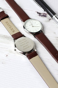 Personalised Unisex Silver Watch
