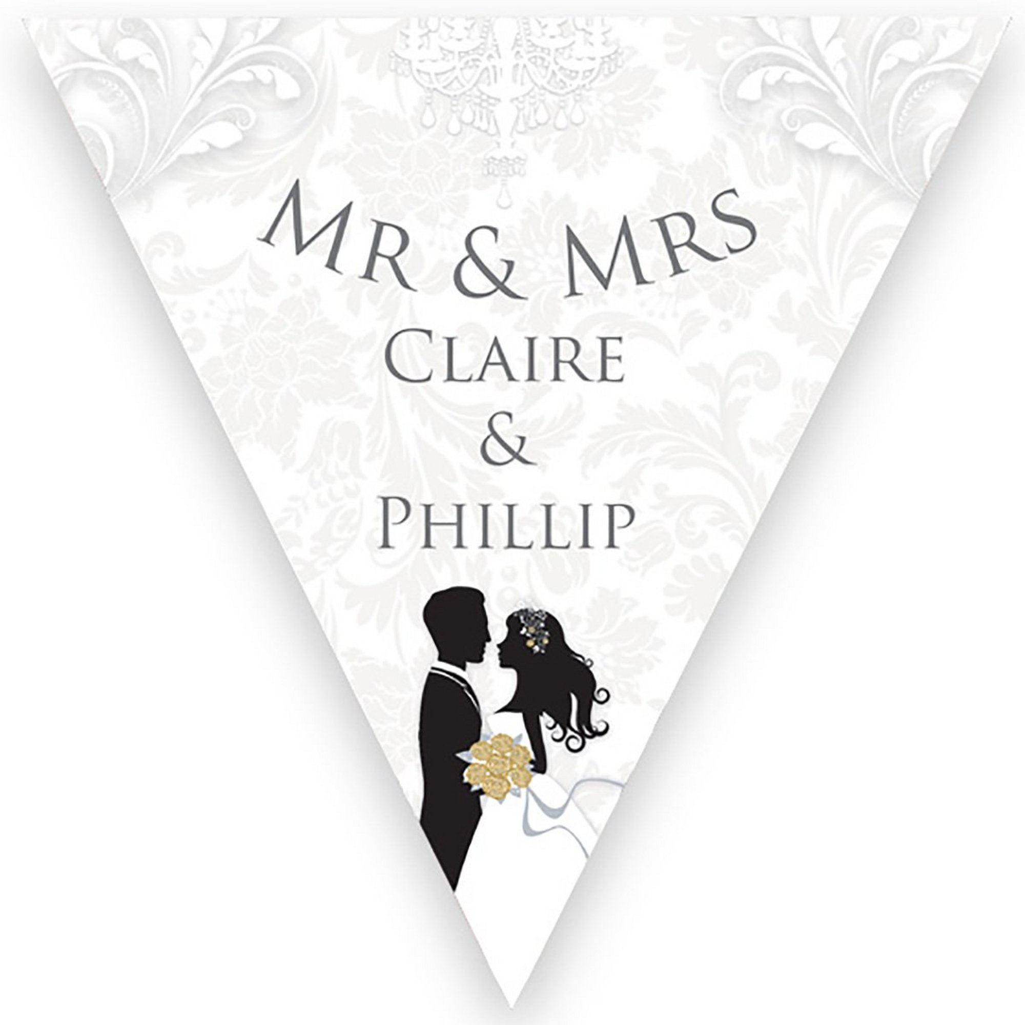Image of Personalised Silhouette Wedding Bunting