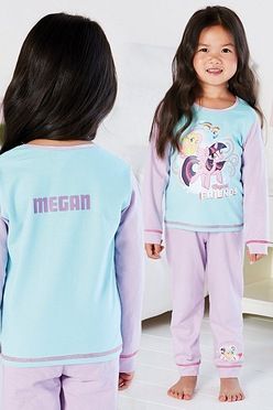 9330a17c702 Young Girls Personalised My Little Pony Magical Friends Pyjamas