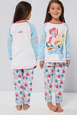 e3a35a41ffa Girls Personalised My Little Pony Varsity Style Pyjamas
