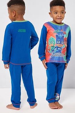 50c28fae0e8 Boys Personalised PJ Masks Save the Day Pyjamas