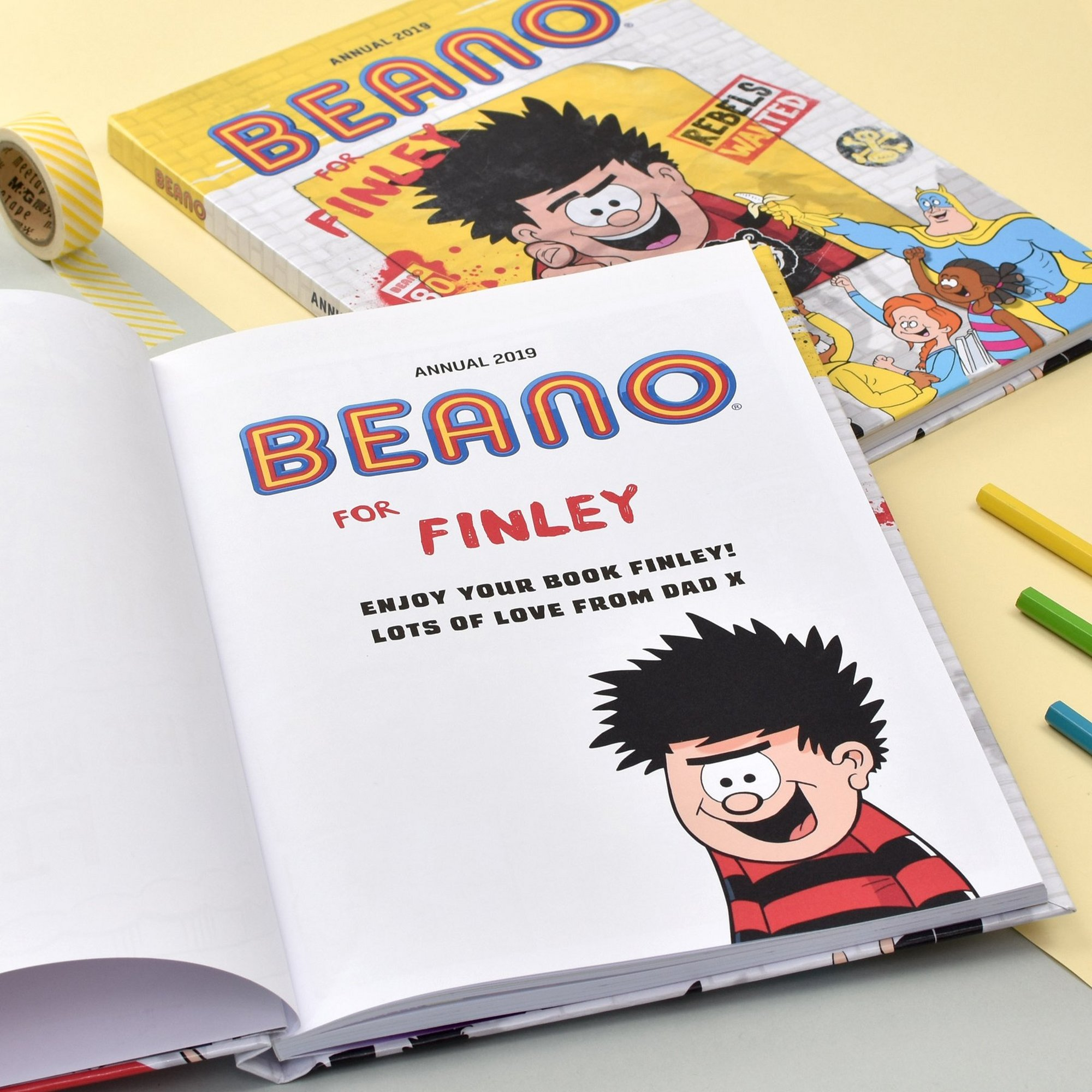 Image of Personalised Beano Annual 2019